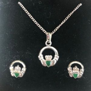 Jewelry - Irish Claddagh necklace and earrings